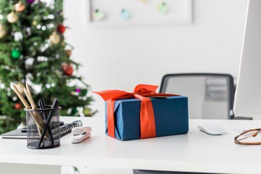 Julegave på skrivebord